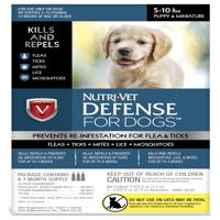 Nutri-Vet K9 Flea & Tick Defense for Dogs Kills & Repels 5-10Lbs