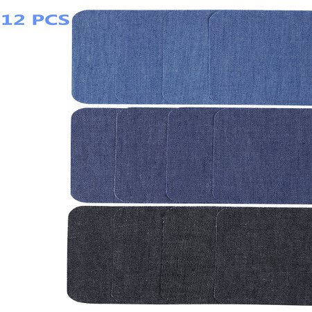 - 12PCS Iron On Patches, Denim Patches for Jeans, Jean patches, Clothes Patch