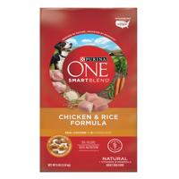 Purina ONE SmartBlend Natural Chicken & Rice Formula Adult Dry Dog Food - 8 lb. Bag