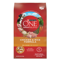 Purina ONE Natural Dry Dog Food; SmartBlend Chicken & Rice Formula - 8 lb. Bag