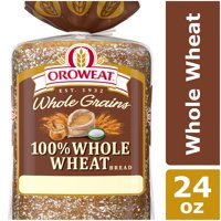 Oroweat Whole Grains 100% Whole Wheat Bread, Baked with Simple Ingredients & Whole Wheat, 24 oz