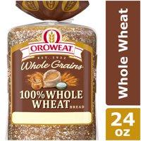Oroweat Whole Grains 100% Whole Wheat Bread, 24 oz