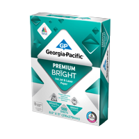 "Georgia-Pacific Premium Bright Paper 8.5""x11"", 24lb/96 BRT, 500 Sheets"