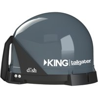 KING DISH VQ4500 Tailgater Portable HD Satellite TV Antenna for RVs, Trucks, Tailgating, Camping and Outdoor