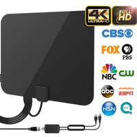 2019 Newest Best 120 Miles Long Range TV Antenna Freeview Local Channels Indoor Basic HDTV Digital Antenna for 4K VHF UHF with Detachable Ampliflier Signal Booster Strongest Reception 13ft Coax Cable