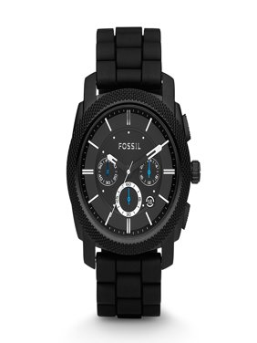 Fossil Men's Machine Silicone Chronograph Watch (Style: FS4487)