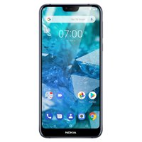 Nokia 7.1 - 64GB Unlocked GSM 4G LTE Android One Phone w/ Dual 12MP Camera - Blue