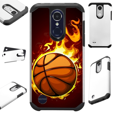 For LG Rebel 4 | LG Rebel 3 Case Hybrid TPU Fusion Phone Cover (Flaming (Rebel Fusion)