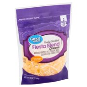 Great Value Finely Shredded Fiesta Blend Cheese, 8 oz