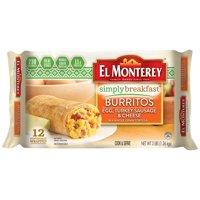 El Monterey Simply Breakfast Egg, Turkey Sausage & Cheese Burritos (12CT)