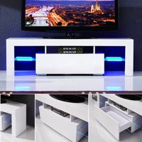 TV Stand / Modern LED TV Cabinet / Living Room Furniture / Tv Cabinet fit for up to 90-inch TV screens / High Capacity Tv Console for Modern Living Room White