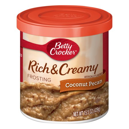 - (5 Pack) Betty Crocker Rich and Creamy Coconut Pecan Frosting, 15.5 oz