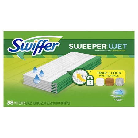 Toshiba Cloths (Swiffer Sweeper Wet Mopping Cloths, Multi Surface Refills, Open Window Fresh, 38 Count )