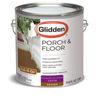 Glidden Porch & Floor Paint and Primer, Grab-N-Go, Satin Finish, Brown, 1 Gallon