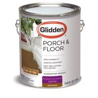 Glidden Porch & Floor Paint and Primer, Grab-N-Go, Satin Finish, Brown, 1 Gallon