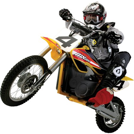 Razor 36 Volt Electric Powered MX650 Dirt Rocket Motocross Off-Road Bike - For Ages 16+ and Speeds up to 17 (Best Razor Kids Stuffs)