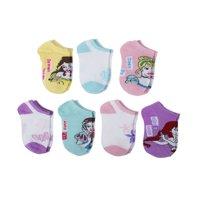 Disney Princess No Show Socks, 5 + 2 Bonus Pack (Little Girls & Big Girls)