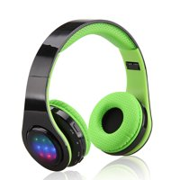 EXCELVAN Folding Wireless Bluetooth LED Stereo Headphones Classic Adjustable Headsets Great Heavy Bass Earphone