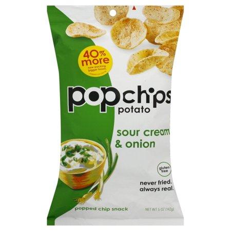 Sour Cream And Onion Potato Chips (Popchips Gluten-Free Sour Cream & Onion Popped Chip Snack, 5 Oz.)
