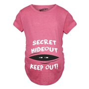 1593df6abac Maternity Secret Hideout Baby Peeking Maternity Shirt Funny Pregnancy Shirts