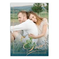 Personalized Wedding Invitation - Elegant Lines - 5 x 7 Flat