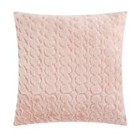 "Mainstays Sequin Scalloped Decorative Throw Pillow, 17"" x 17"", Blush"