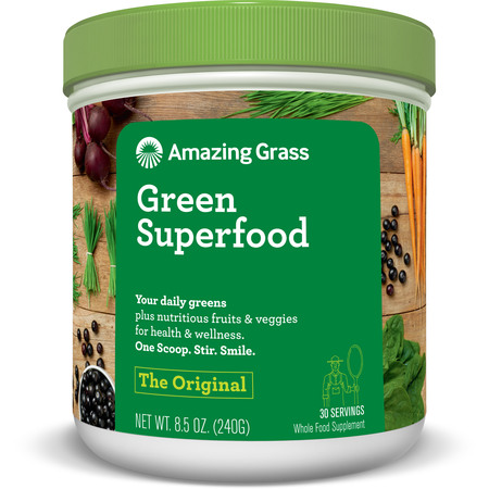 Amazing Grass Green Superfood Powder, Original, 30 (Green Edge Powder)