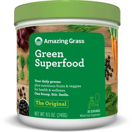 - Amazing Grass Green Superfood Powder, Original, 30 Servings