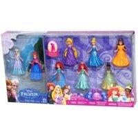 Disney Princess Doll Giftset, 8 Piece - Featuring Anna, Elsa, Cinderella, Belle, Merida, Rapunzel, Ariel and Tiana