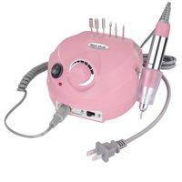 Electric Acrylic Nail Drill Manicure Pedicure Kit Pedal File Buffer Set w/ 6 Bits Beauty Salon