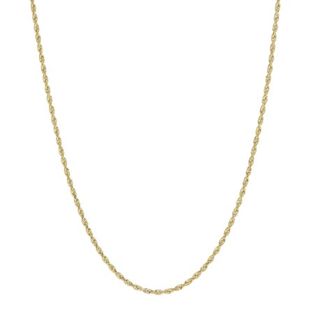 - 10KT Yellow Gold 1.5mm Rope Chain, 24
