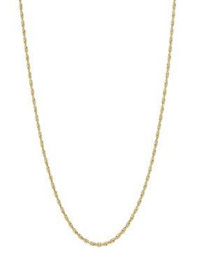 """Simply Gold 10KT Yellow Gold 1.5mm Rope Chain, 24"""""""