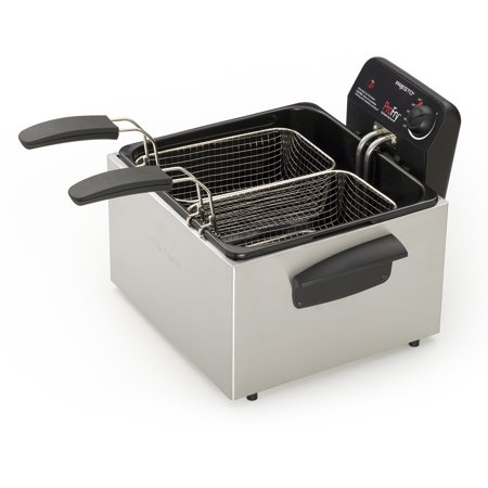 - Presto Stainless Steel Dual Basket Profry Immersion Element Deep Fryer