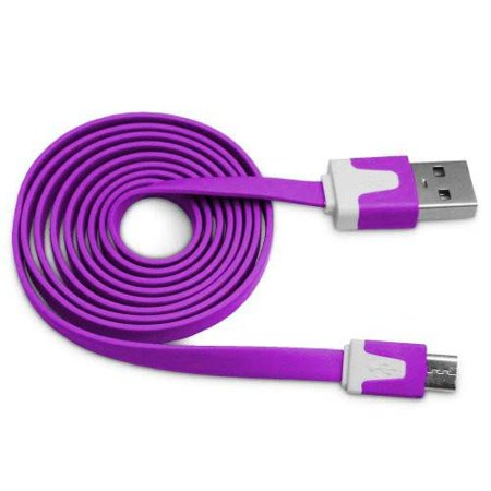 Importer520 Purple 3m 10 Ft (Extra Long) Micro USB Data Sync Charger Cable forNokia Fold 3710/3711