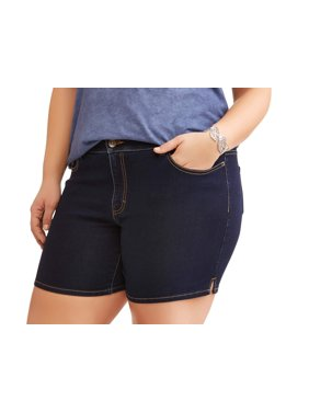 Women's Plus Basic Denim Shorts