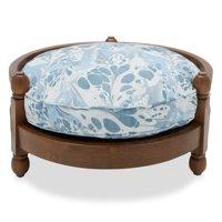 Vintage Marble Wood Frame Pet Bed by Drew Barrymore Flower Home