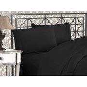 Elegant Comfort Bedding  4-Piece Bed Sheet Set 1500 Thread Count  Wrinkle Free HypoAllergenic with Deep Pockets , Queen, Black