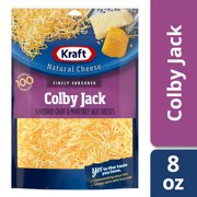 Kraft Colby Jack Finely Shredded Natural Cheese, 8 oz Pouch