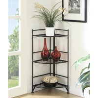 Convenience Concepts 3-Tier Corner Folding Metal Corner Shelf, Multiple Finishes
