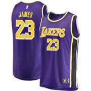 047a9c4d5db LeBron James Los Angeles Lakers Fanatics Branded Youth 2018 19 Fast Break  Replica Jersey Purple