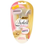 BIC Soleil Balance Women's Disposable Razor, 2 Count
