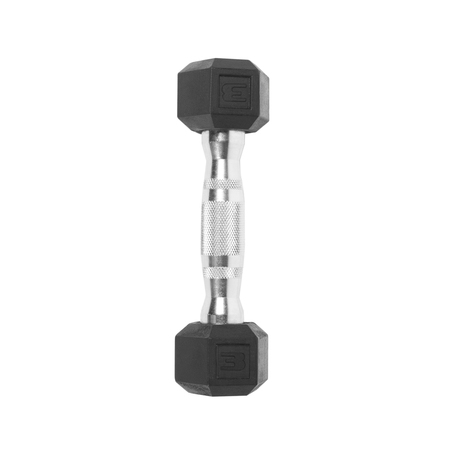 8 Barbells (CAP Barbell Rubber Coated Hex Dumbbell, Single 3lbs)