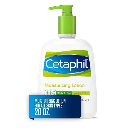 Cetaphil Moisturizing Lotion for All Skin Types, Fragrance-Free, 20 fl oz 17 Oz Moisturizing Gel