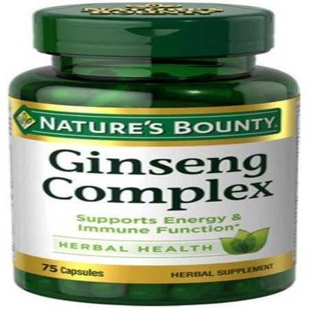 Nature's Bounty Ginseng Complex Herbal Health Capsules 75 (Natures Way Ginseng)