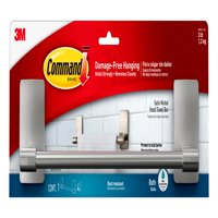 3M Command Damage-Free Hand Towel Bar, Hangs 3 pounds, Hang without Tools, 1 bar, 4 strips (BATH41-SN-ES)