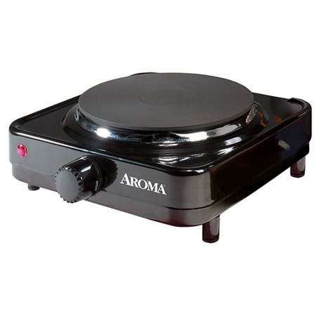 Aroma Single-Burner Portable Electric Range Hot Plate, -