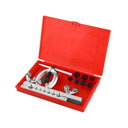 Tbest 9pcs Pipe Flaring Tool Kit Tube Repair Flare Includes Clamp Spreader Dies, Pipe Flare Tool, Tube Flare Tool