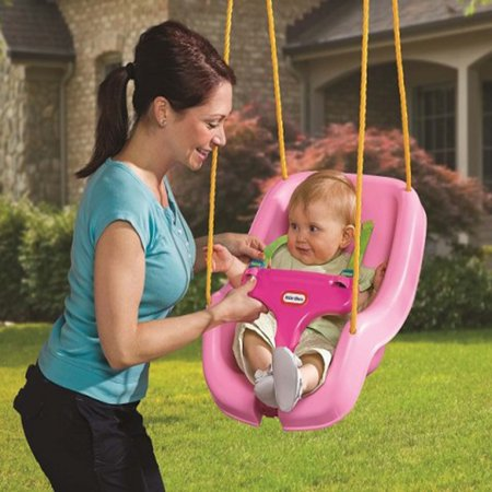 - Little Tikes 2-in-1 Snug 'n Secure Swing - Pink (Brown Box)