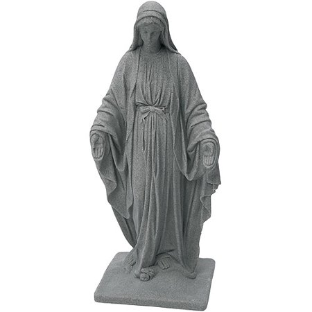 """EMSCO Virgin Mary Statue – Natural Granite Appearance – Made of Resin – Lightweight – 34"""""""