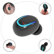 Mini Wireless Bluetooth Headphone Bluetooth V4.1 Lightweight Stereo Earbud with Micro for iPhone Samsung Android Smartphone (Black)